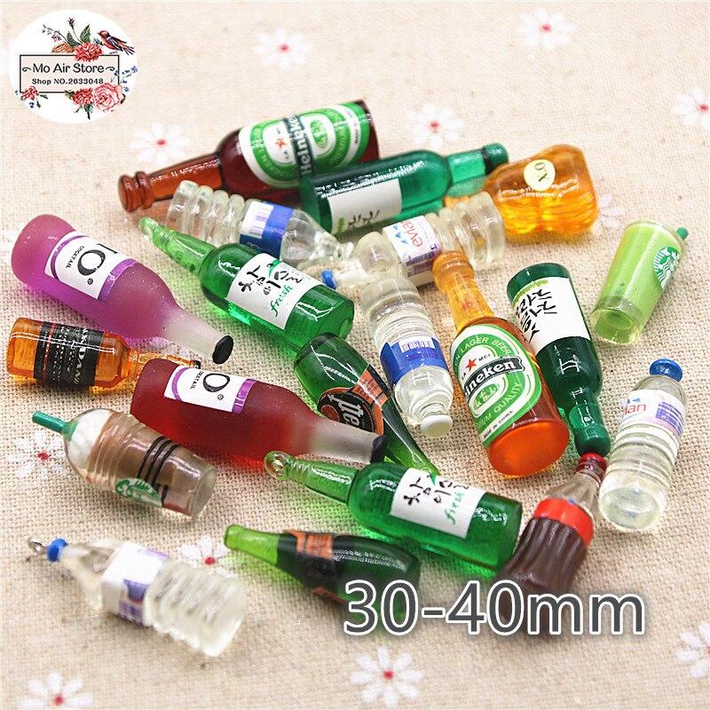 10 шт. каучуковые 3D Милые каучуковые бутылки для вина/воды кабошон имитация еды питьевые товары художественные украшения очаровательные под...
