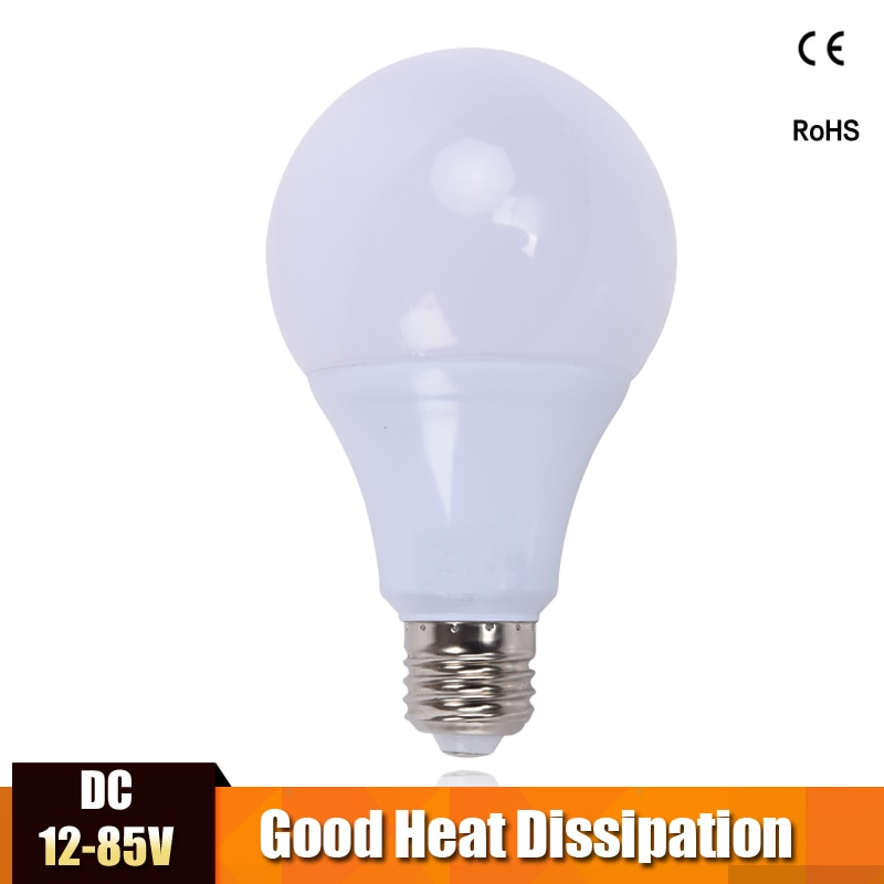 E27 lampe à LED ampoule DC 12 V 24 V 36 V économie dénergie lumières ampoule DC12-85V Bombillas LED Camp maison solaire moteur maison ampoule blanc froid