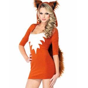 Wholesale Sexy Women's Costume Halloween Animal Fox Costume Womens Native Temptress Costume Halloween Gift W339081