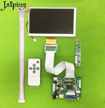 Jstping 6 pulgadas 800*480 HD pantalla LCD Monitor de pantalla TM060RDH01 Control placa HDMI + VGA + 2AV kit para Raspberry Pi de panel