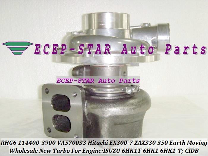 RHG6 CIDB 114400-3900 VA570033 1144003900 Turbo turbocompresor para HITACHI EX300-7 ZAX330 de movimiento de tierra para ISUZU 6HK1T 6HK1 6HK1-T