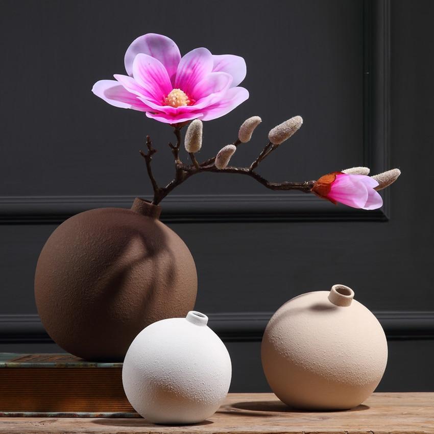 Керамическая ваза в Европейском стиле, креативная настольная художественная ваза, свадебные подарки, офисный домашний декор, модные предме...