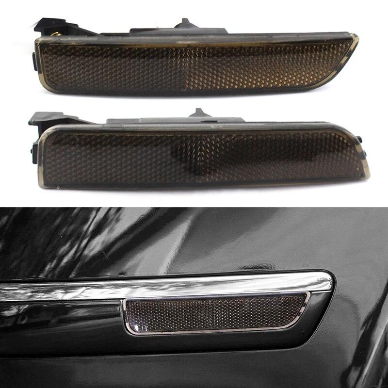 2 uds OEM, luces de posición delantera/trasera para lateral de parachoques para Volkswagen Passat B5.5 2001-2005, cristales grises/ámbar/transparentes opcionales