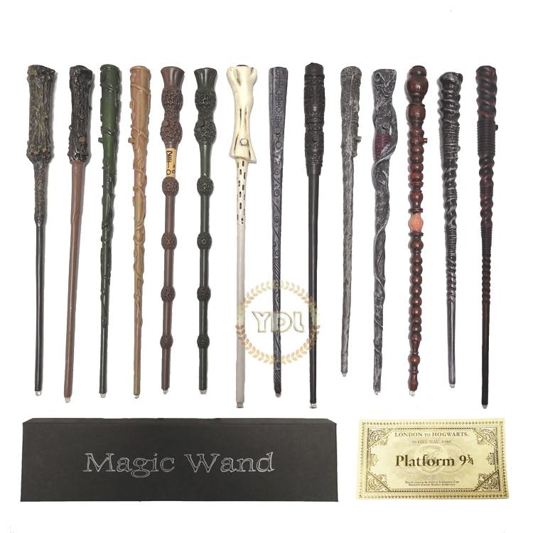 HP iluminación Led Ron Hermione Voldemort Hermione Dumbledore Sirius varita mágica porque billete de tren juguetes para trucos de magia