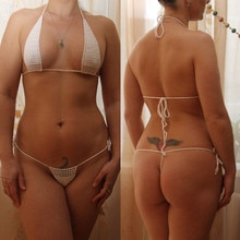 13 Color Hand Crochet Sunbathing Hot Bikini Women Sexy Micro Swimwear Mini Lingerie Sets