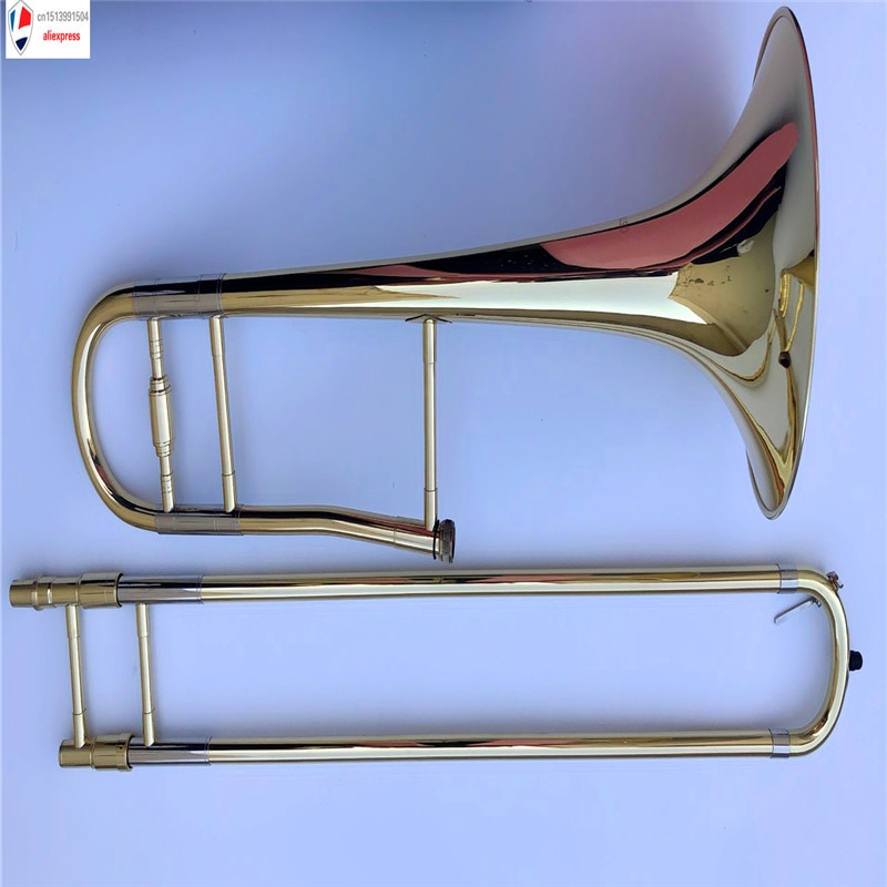 High grade Private & Custom Tenor Bb Trombone great metal technique sound lacquer case and mouthpiece Great Response Intonation