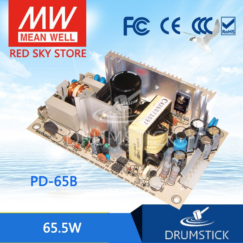 patriotic MEAN WELL PD-65B meanwell PD-65 65.5W Dual Output Switching Power Supply