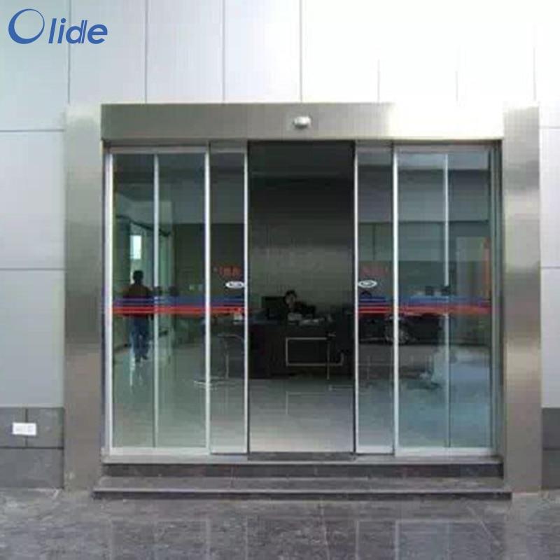 أبواب انزلاقية أوتوماتيكية ، مستشعر حركة الميكروويف ، بدون سكة نقل وغطاء