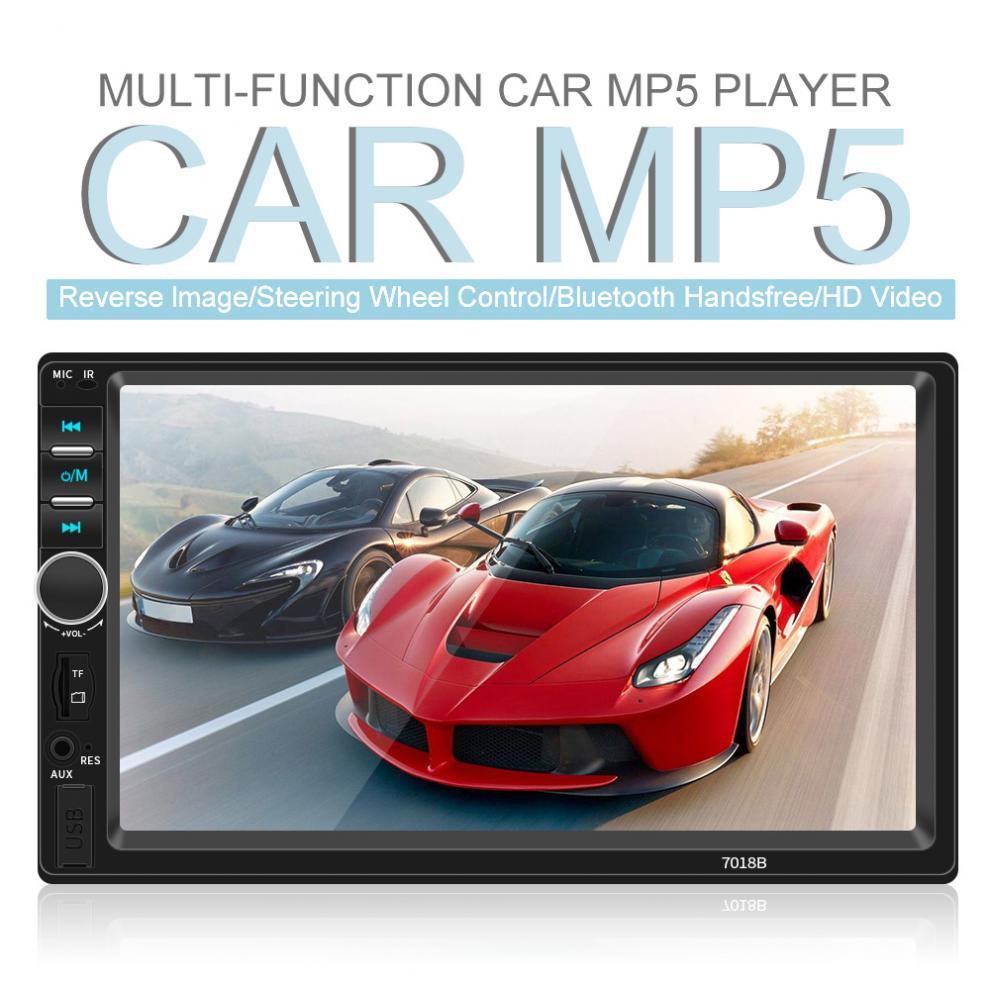 Écran tactile de tableau de bord 7 pouces   Bluetooth, 2 DIN, pour la vidéo du lecteur Radio FM, prise en charge du miroir, pour iPhone et Android/Aux