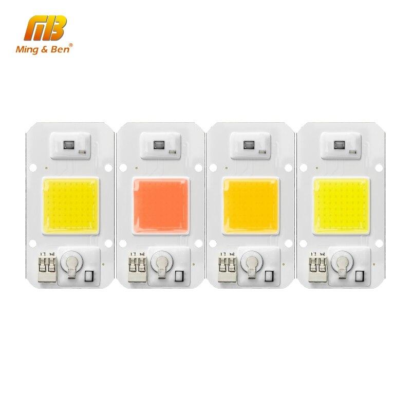 5 uds. Chip LED luz regulable 20W 30W 50W 220V 110V IC inteligente DIY para LED al aire libre proyector de alta calidad cuentas LED