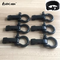 6pcslot high quality o shape adjustable stainless steel anchor shackle outdoor camping survival rope paracord bracelet buckles