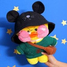 Новая плюшевая игрушка каваи из утки с милыми животными, мягкая кукла из желтой утки для волос, подарок на Рождество, день рождения, украшения для девочек