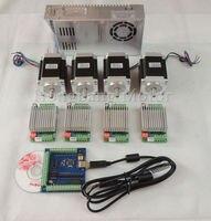Ship from EU mach3 CNC USB 4 Axis Kit 4pcs TB6600 driver+USB stepper motor controller+4pcs nema23 270oz-in motor+power supply