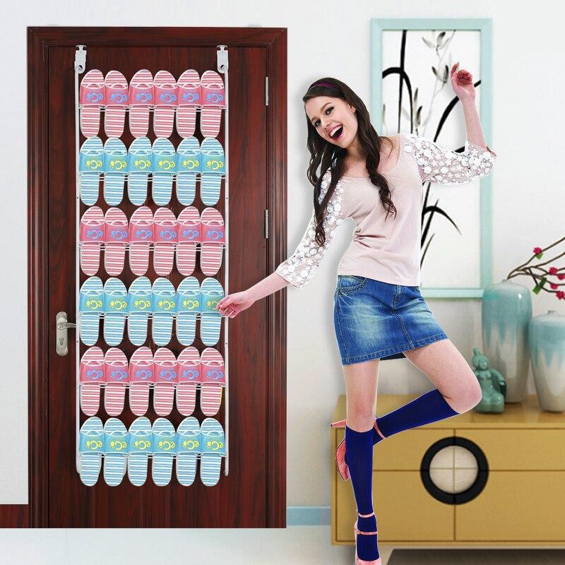 Estante de almacenamiento de puerta estante para zapatillas en la pared estante de almacenamiento multicapa estante Simple para zapatos