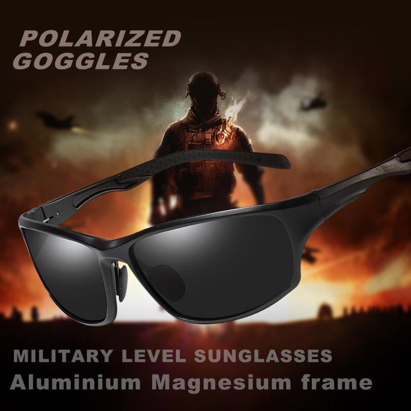Aluminium Magnesium Frame Men's Polarized Military Sunglasses Goggles Driving Sun glasses UV400 Men