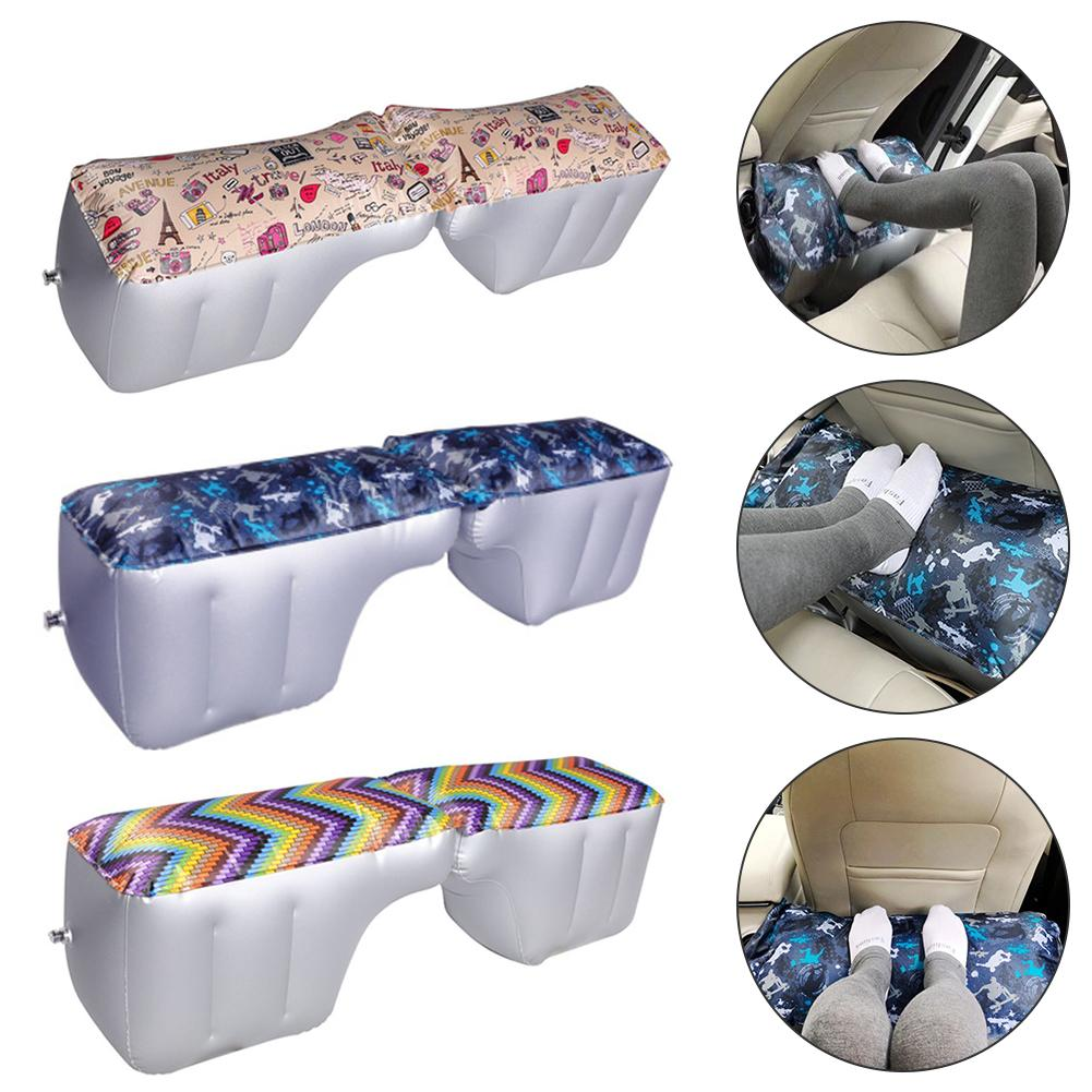 Colchão de carro inflável para trás assento gap almofada impressão cama de ar almofada para carro gap almofada viagem de carro acampamento colchão de ar do carro