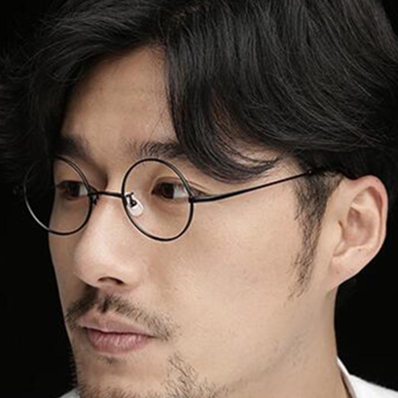 בציר עגול קטן אביב צירים ג ון לנון מתכת מסגרות משקפיים מלא רים קוצר ראיה Rx מסוגל משקפיים