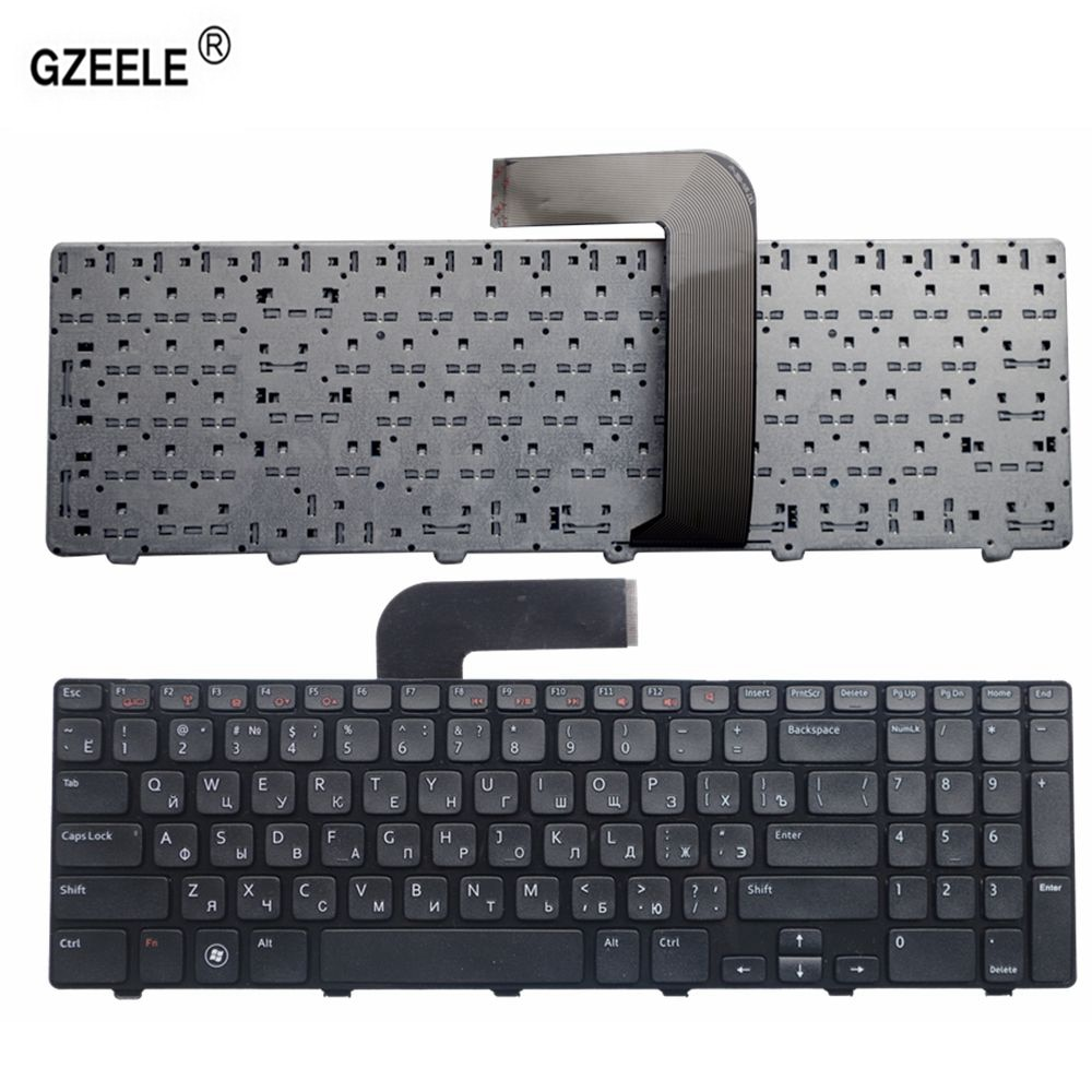 GZEELE Laptop Keyboard for Dell Inspiron 15R Ins15RD-2528 2728 2428 M501Z M5110 M511R N5110 NEW RU layout black RUSSIAN keyboard