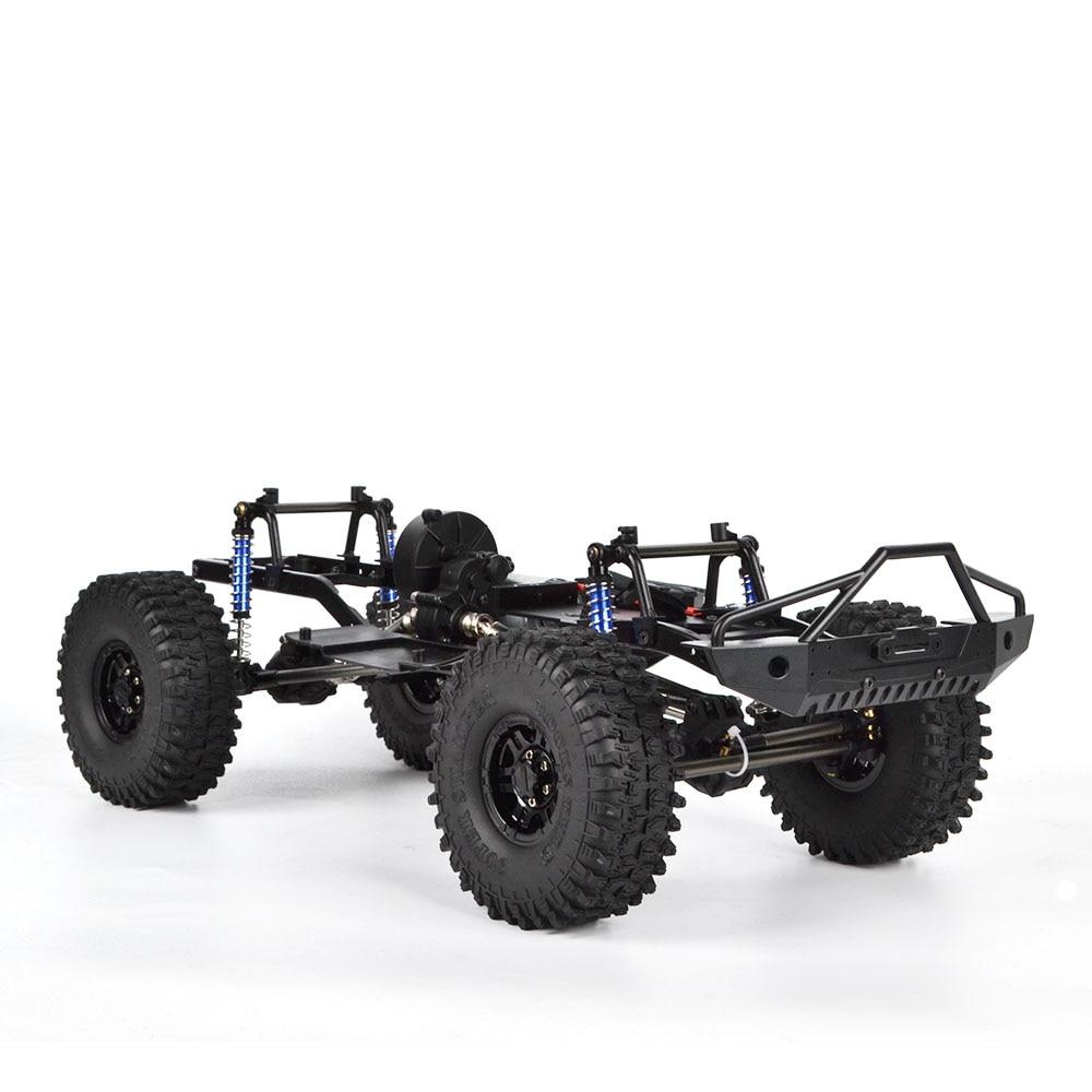 "1/10 RC 313mm 12,3 ""Wheelbase marco montado chasis para SCX10 SCX10 II 90046 90047 coche trepador de control remoto"