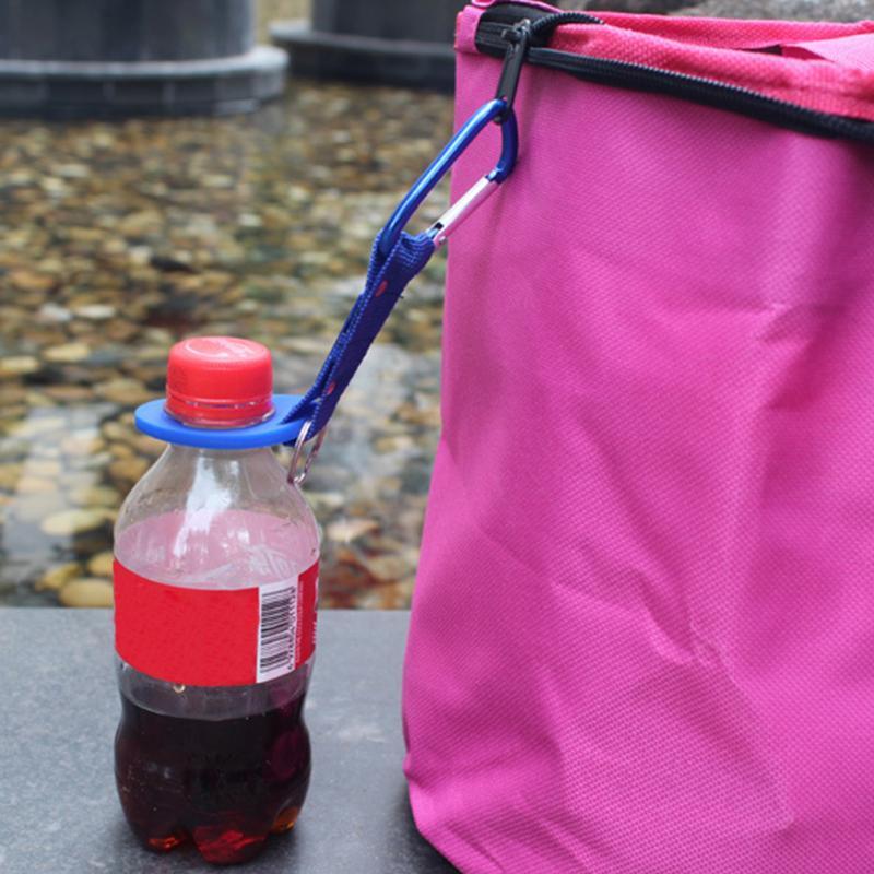 Hebilla de silicona gancho clip de soporte de botella de agua escalada mosquetón cinturón mochila suspensión campamento/llavero multifunción al aire libre