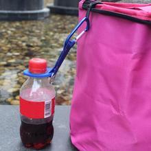Silicone boucle crochet eau porte-bouteille pince escalade mousqueton ceinture sac à dos cintre Camp/porte-clés multifonction en plein air
