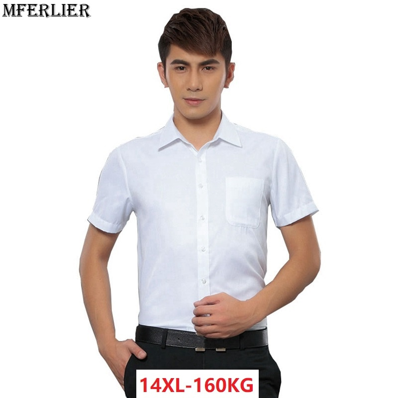 Mferler-قمصان صيفية غير رسمية للرجال ، قمصان عمل بأكمام قصيرة ، مقاس كبير 6XL 7XL 8XL 9XL 10XL 11XL 12XL