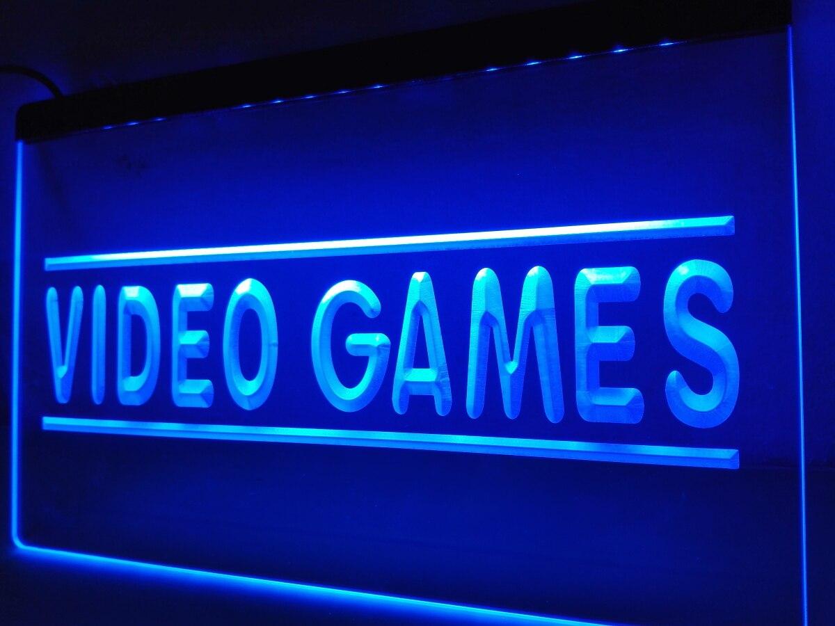 LK273-gry wideo na piwo do baru Pub znak neonowy światło LED wyroby do dekoracji domu