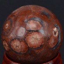 Boule de Globe sphère en fourrure de léopard   30MM boule de cristal jaspe naturel, objets artisanaux de guérison, minéraux avec support, 30MM