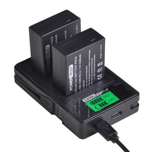 Batterie PowerTrust DMW-BLC12 DMW-BLC12E + LCD USB double chargeur pour Panasonic Lumix DMC-FZ200,FZ300,FZ1000,FZ2500,G5,G6,G7,GX8