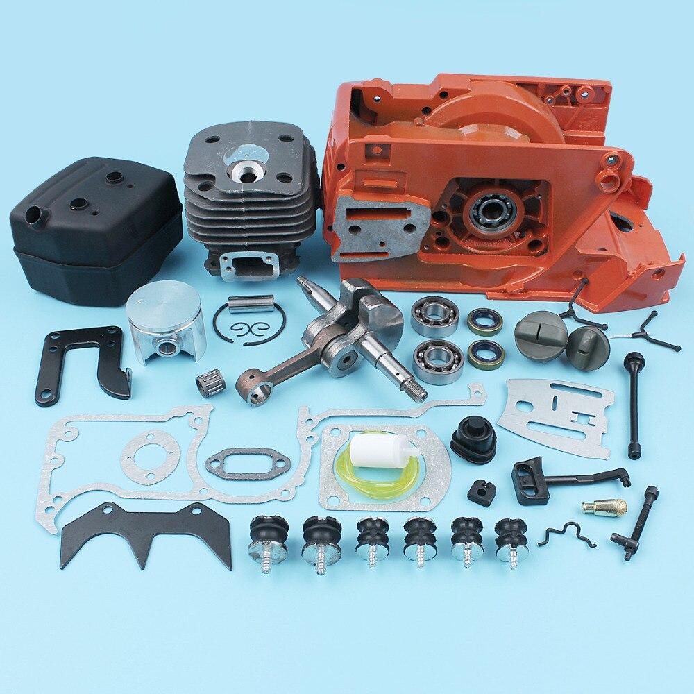 Crankcase Crankshaft 50mm Cylinder Muffler Bearing For Husqvarna 268 272 XP 61 Chainsaw Tensioner Fuel Oil Line Filter AV Gasket