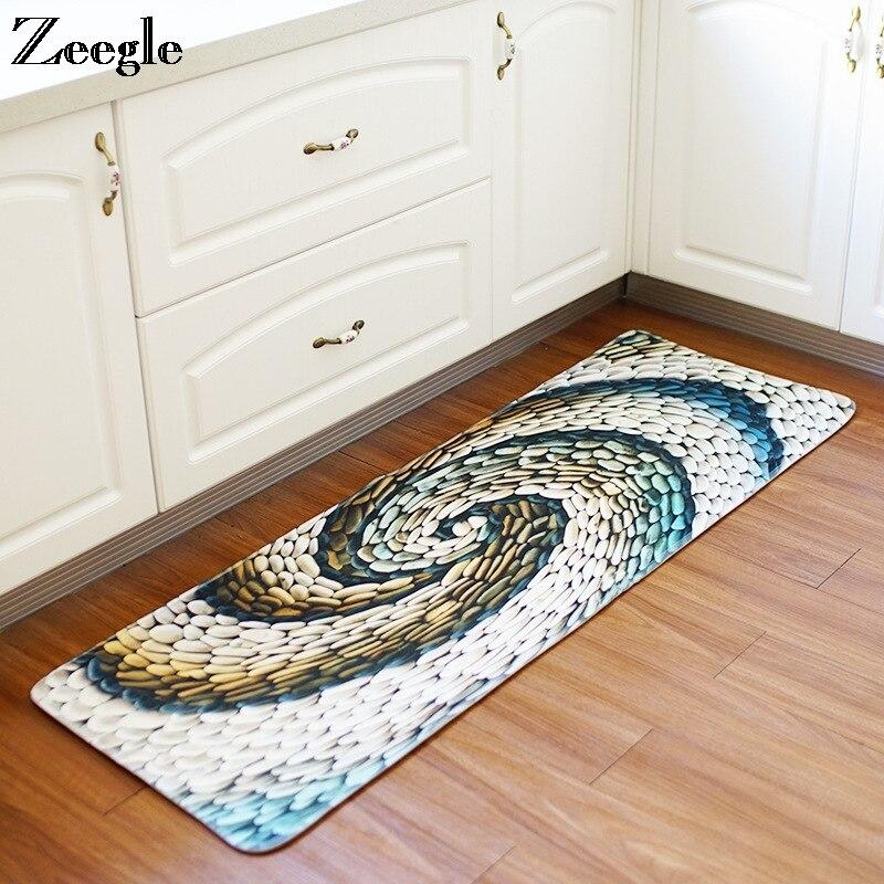 Zeegle-سجادة أرضية غير قابلة للانزلاق ، سجادة ماصة لغرفة النوم والمطبخ ، للمنزل