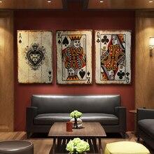 Rétro cartes en bois Poker pour signe hôtel/café/barre mur décor signe Vintage décor à la maison Plaque rétro peinture cartes à jouer Plaque