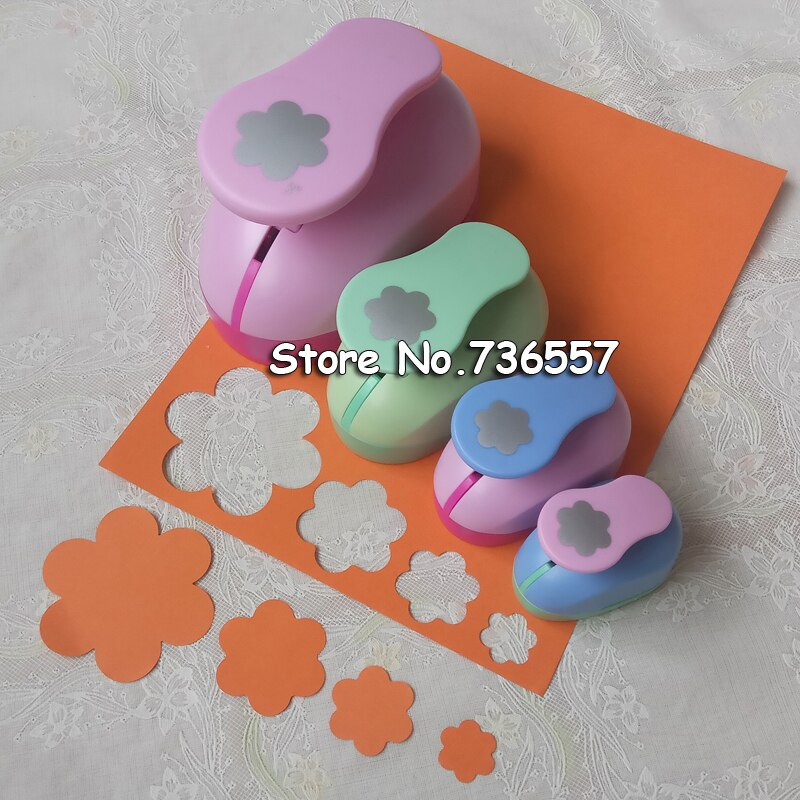 1pc seis pétalas forma artesanato perfurador conjunto scrapbooking escola perfurador de papel buraco eva 7.5cm 4.7cm 3.5cm 2.4cm frete grátis
