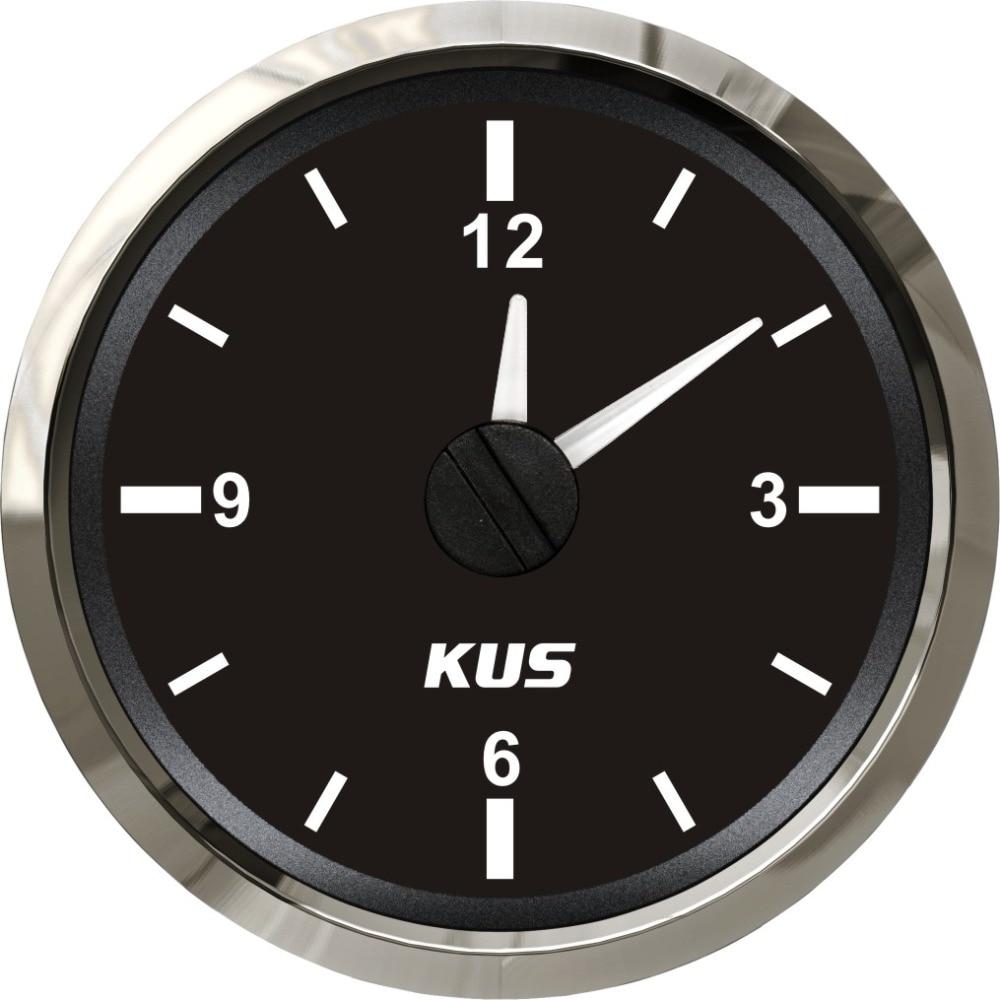 "Reloj de barco marino automático de 2 ""De KUS, medidor de reloj de 12 horas con retroiluminación"