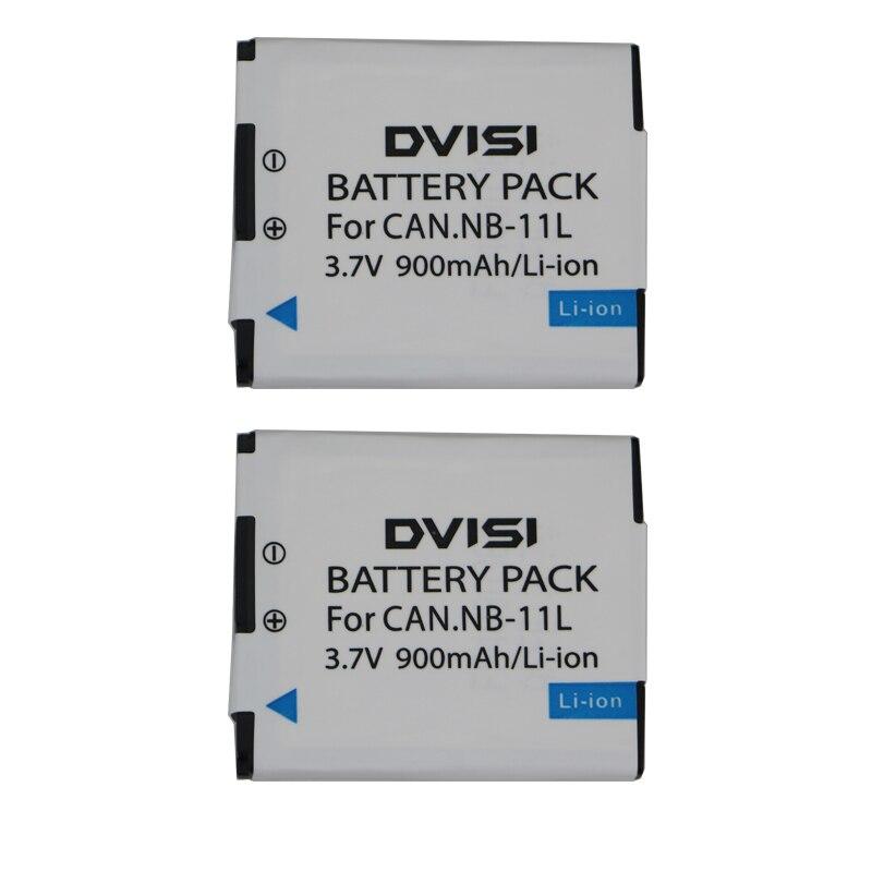 Аккумулятор DVISI для Canon PowerShot A2300 IS, A2400 IS, A2500, A2600, A3400 IS, A3500 IS, ELPH 110 HS, 2 шт./лот, NB-11L