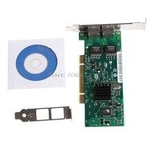 Carte réseau PCI double Port RJ45 Gigabit Ethernet Lan 10/100/1000Mbps pour Intel 82546 X6HA