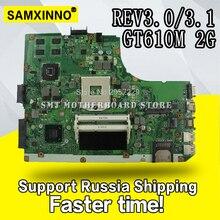 K55VD carte mère REV3.0/3.1 GT610M 2GB RAM pour ASUS A55V R500V ordinateur portable carte mère K55VD carte mère K55VD test de la carte mère OK