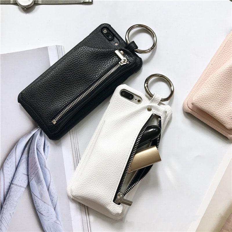 Gran oferta de funda de la marca US Japan Street Fashion con bolsillo para tarjeta para iPhone 6 6s 7 8 X TPU suave funda protectora trasera de cuero PU