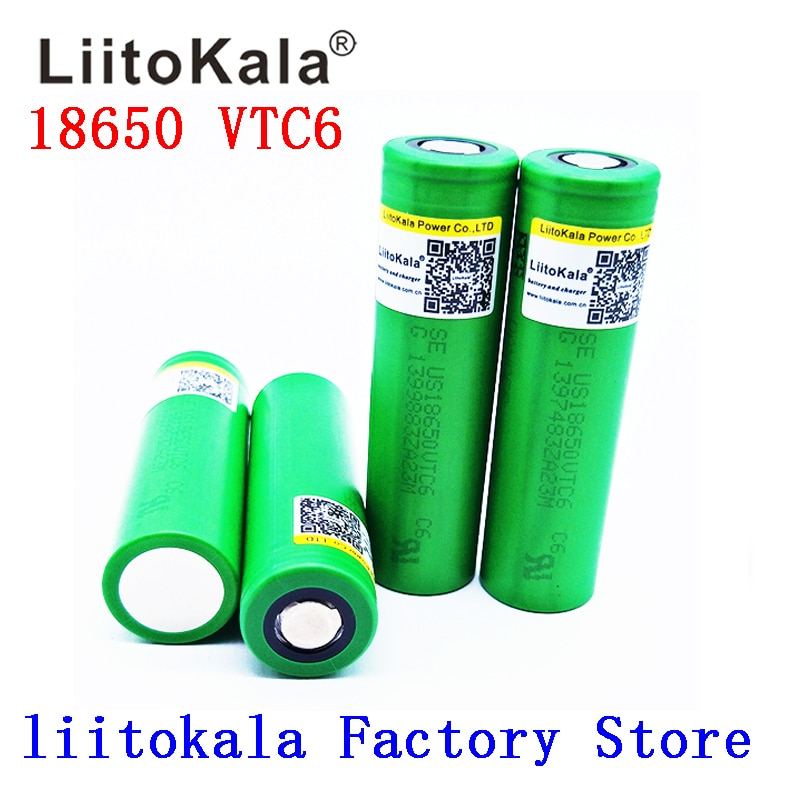 Liitokala VTC6 3.7V 3000mAh rechargeable Li-ion battery 18650  US18650VTC6 30A Toys flashlight tools