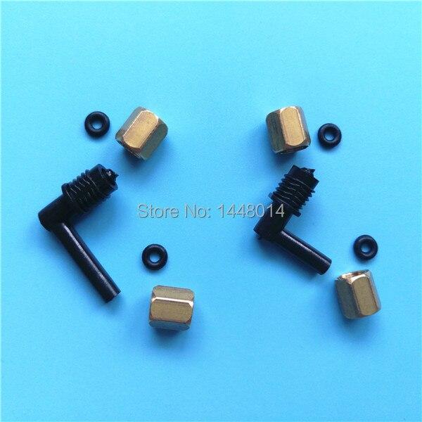 8 Uds para Epson Stylus Pro 4880 4880C 4450 4400 4000 conector de amortiguador de tinta con tornillo O anillo conector L forma accesorios de tubo