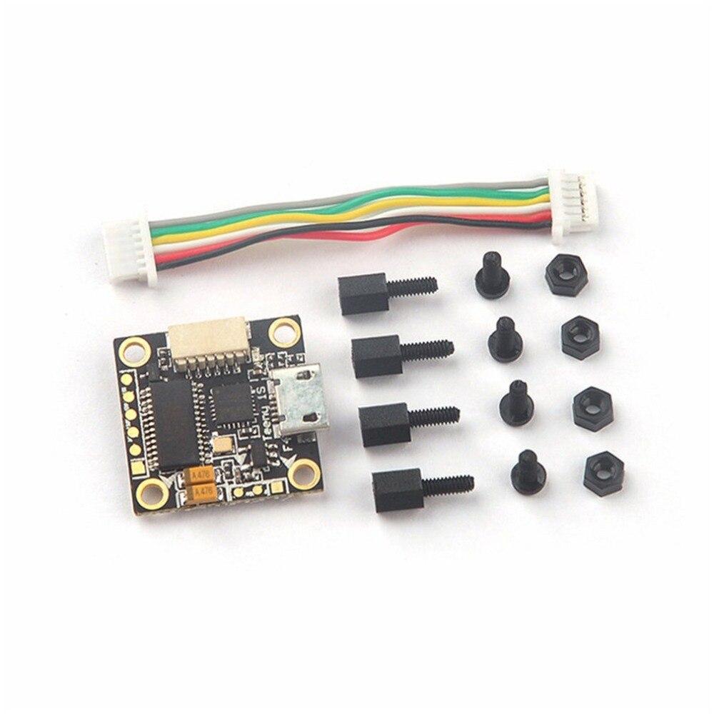 Venta caliente 16x16mm TeenyF4 Pro F4 controlador de vuelo w/OSD Buck-Boost convertidor Micro dron de carreras FPV 1-2 s buenas partes