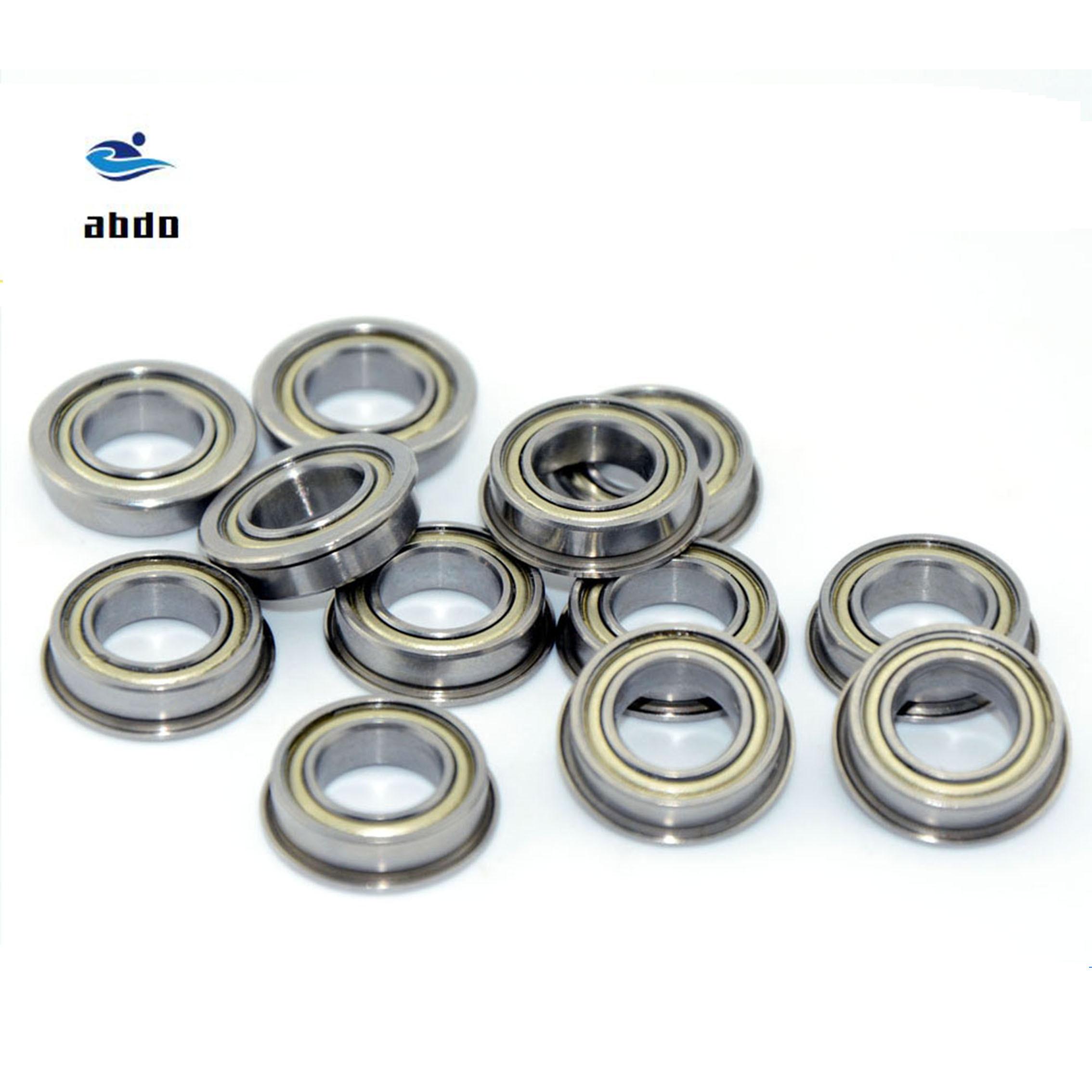 40pcs/Lot MF74ZZ  MF74 ZZ 4x7x2.5mm Miniature Flange Bearing Thin Wall Deep Groove Ball Radial Ball Bearing MF74 bearing