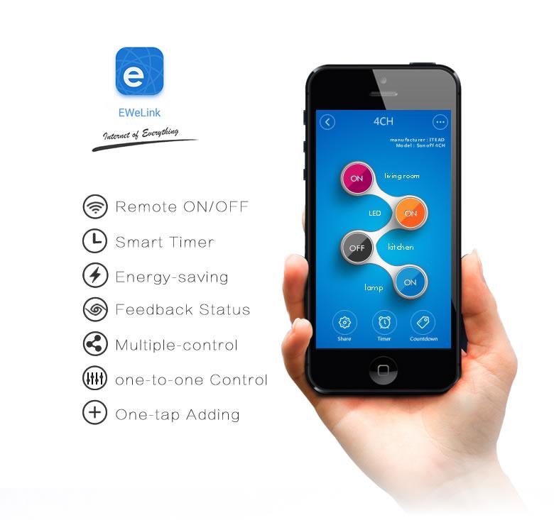 Itead Sonoff Inteligentny Wifi Przełącznik Czasowy Inteligentny Uniwersalny Bezprzewodowy Przełącznik DIY MQTT COAP Android IOS Zdalnego Sterowania Inteligentnego Domu 16