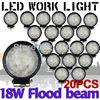 Tkeapl thtmh 20ピース12ボルト24ボルト6000 k 18ワットledワークランプライト洪水ビームトレーラーオフ道路ボート4wd 4 × 4