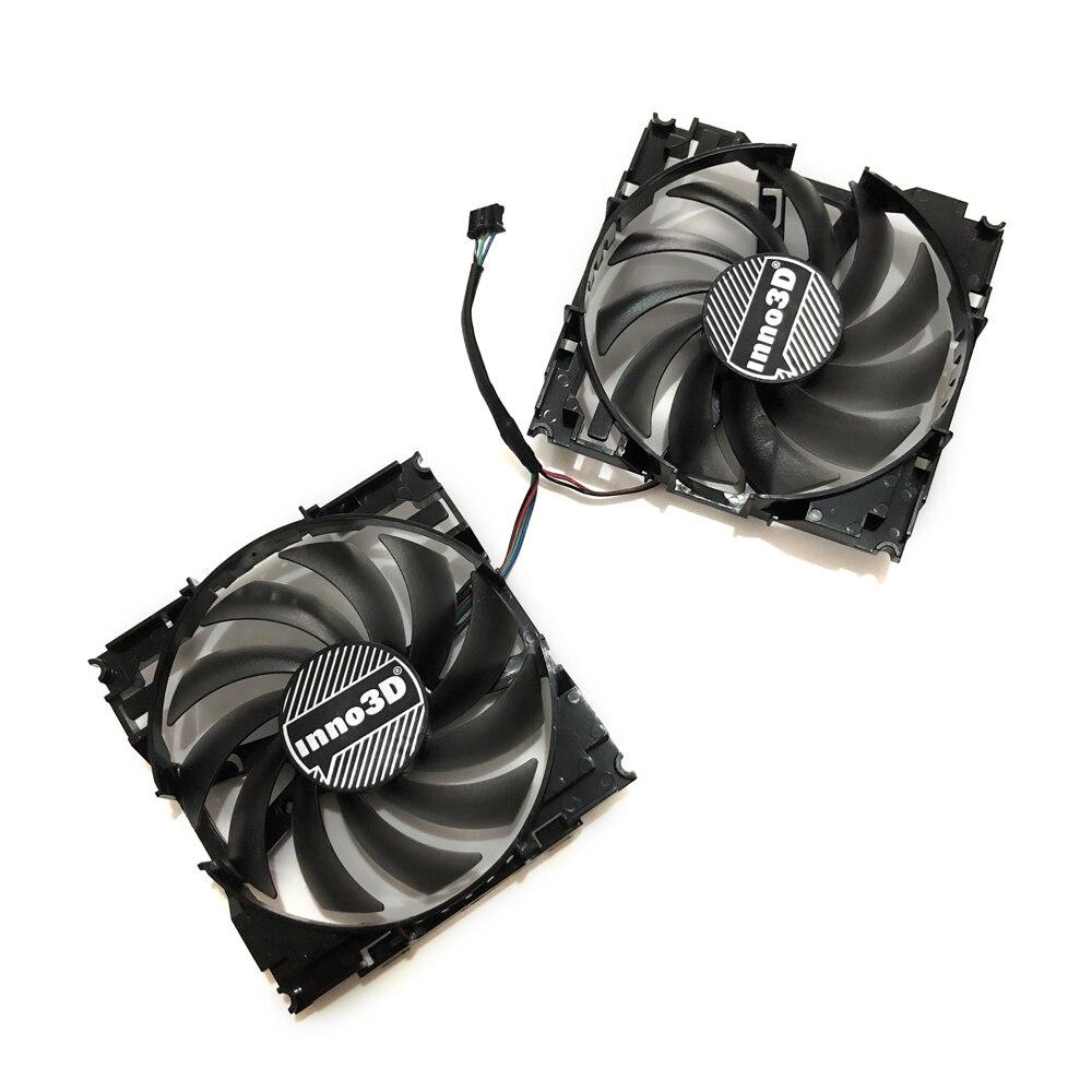 2 unids/set CF12915S InnoVISION GTX1060 GPU VGA ventilador refrigerador de tarjeta para INNO3D GEFORCE GTX 1060 6GB X2 tarjeta gráfica como reemplazo