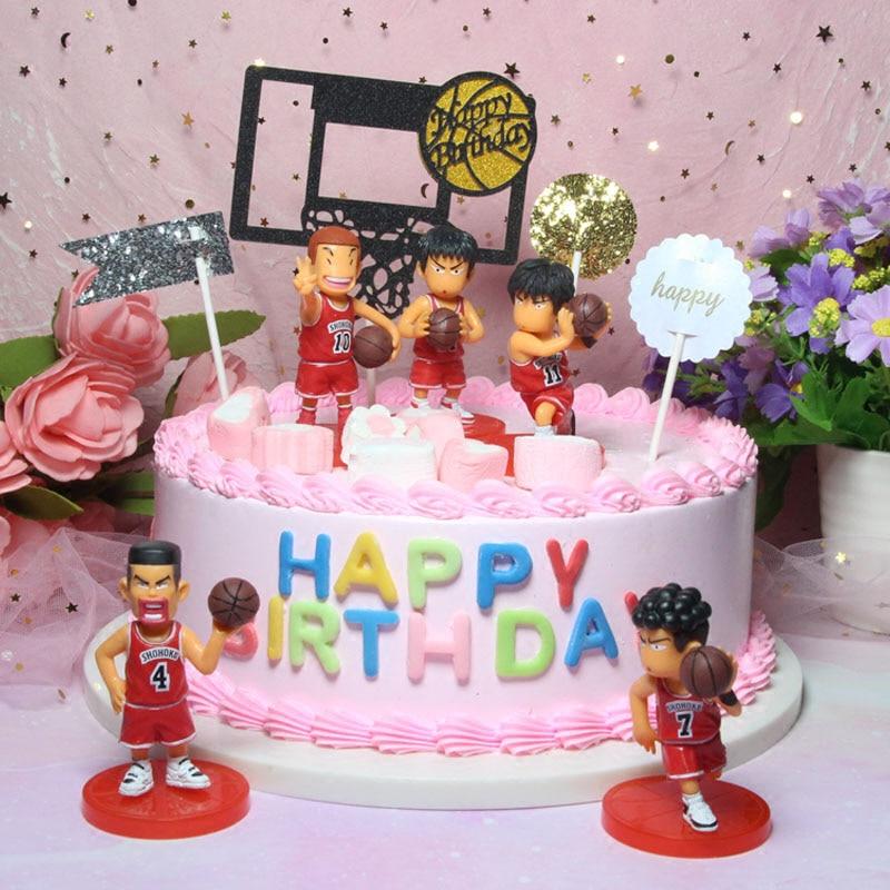 5 шт. японского аниме фигурки Slam Dunk торт Топпер Sakuragi Hanamichi баскетбольный торт украшение для детей день рождения Декор