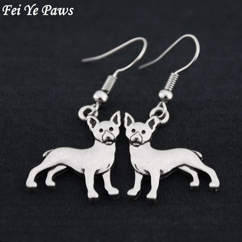 Винтажные серьги-подвески Boho Rat Terrier & Chihuahua Dog большие длинные массивные индийские серьги женские модные ювелирные украшения Bijoux
