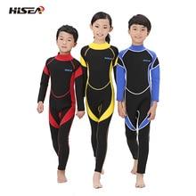 Hisea ملابس الاطفال 3/2 مللي متر النيوبرين بنين بنات بذلة كامل الجسم تصفح الغوص الربيع لباس سباحة