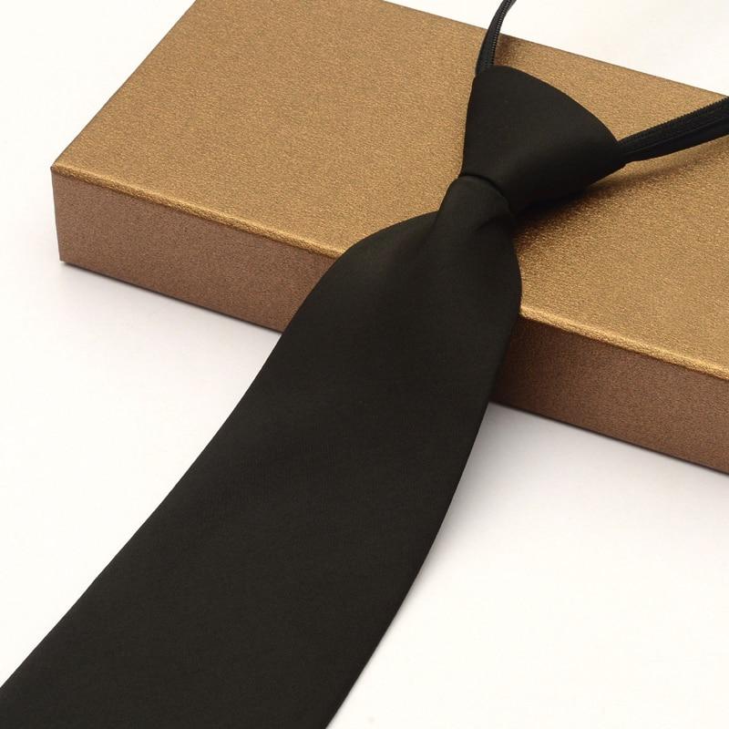 Zipper Ties for Men 10cm Wide Male Black Formal Ties Classic Tradition Big Neckties Business Mens Tie corbatas para hombre