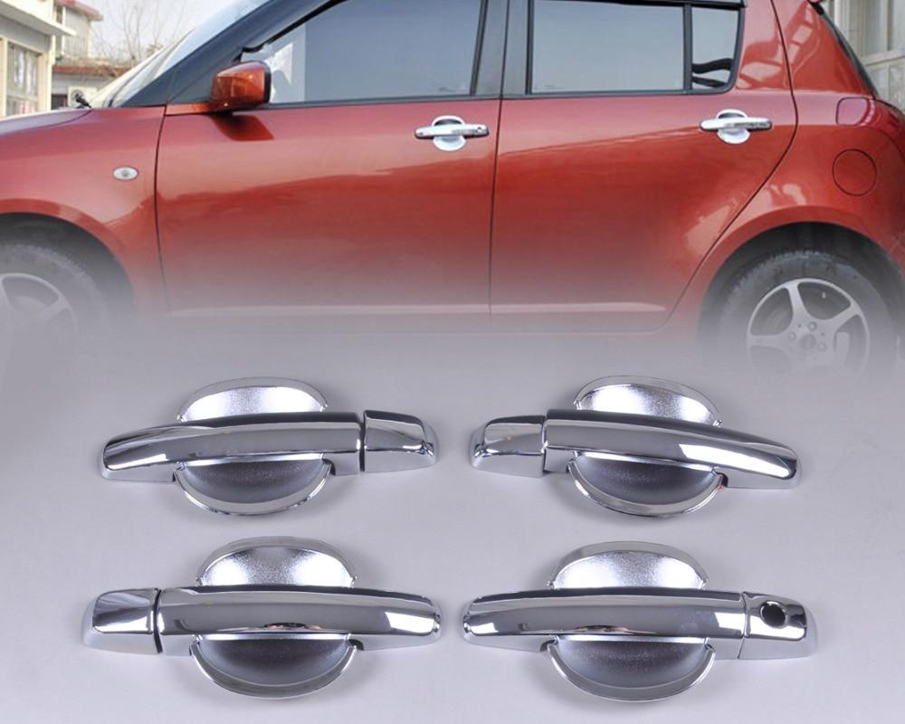 DWCX estilo Exterior nueva cubierta cromada de manija de puerta + tapa del cuenco de la taza para Suzuki Swift Grand Vitara 2005-2008 2009 2010 2011 2012